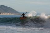 trev on a twin fin.